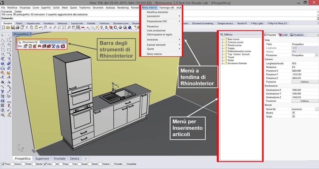 Rhinointerior pro software progettazione per produttori di for Produttori di mobili